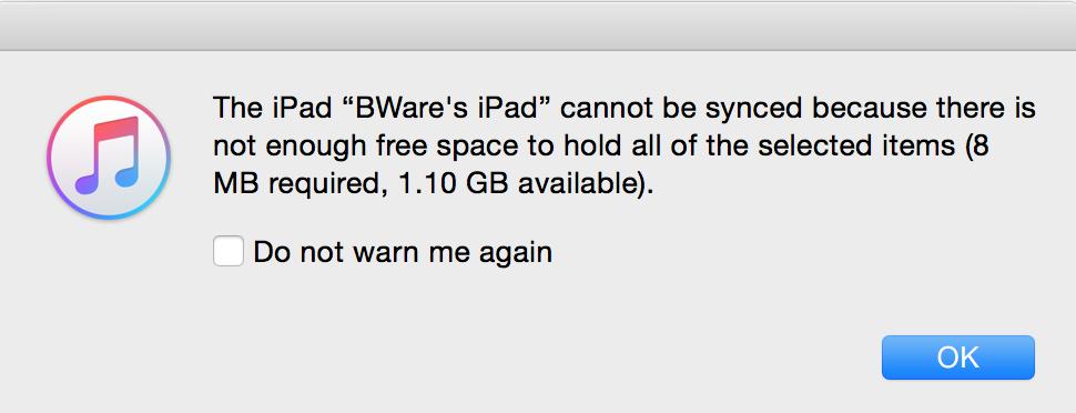 Stupid Apple Message